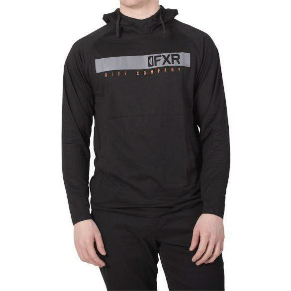 FXR Trainer Tech Mens Pullover Hoodie 2019 Hoodie FXR Grey Heather/Black S