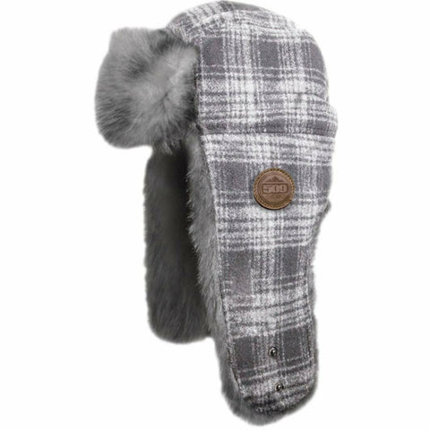 509 Trapper Fur Hat Beanie 509 White