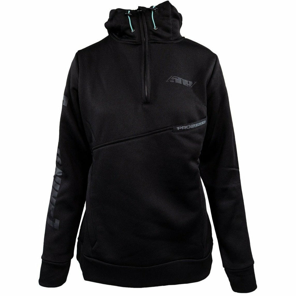 509 Women's Sector Quarter Zip Hoodie 21 Casual 509 Black Heather LG
