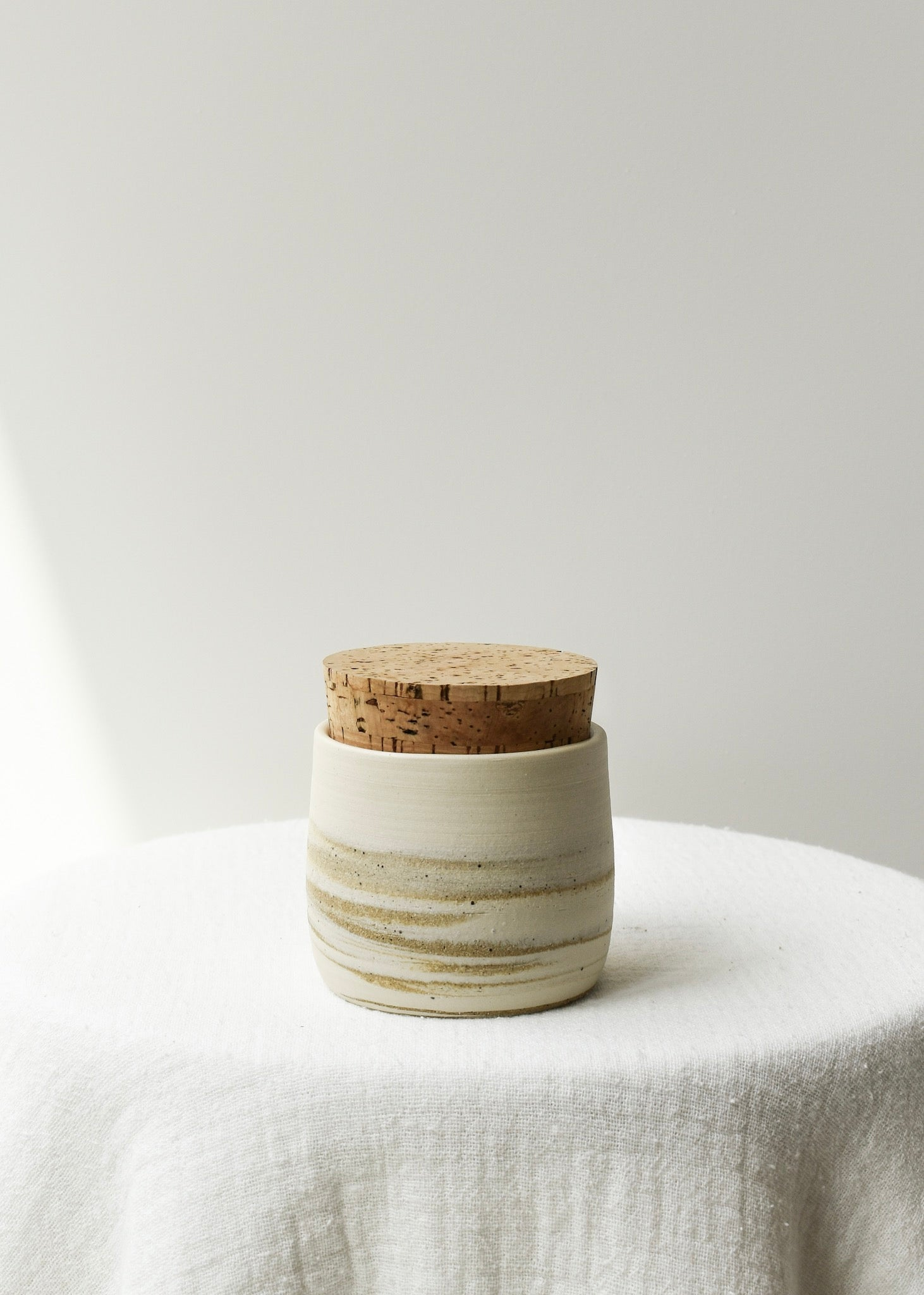 Cork Canister (Milk Tea)