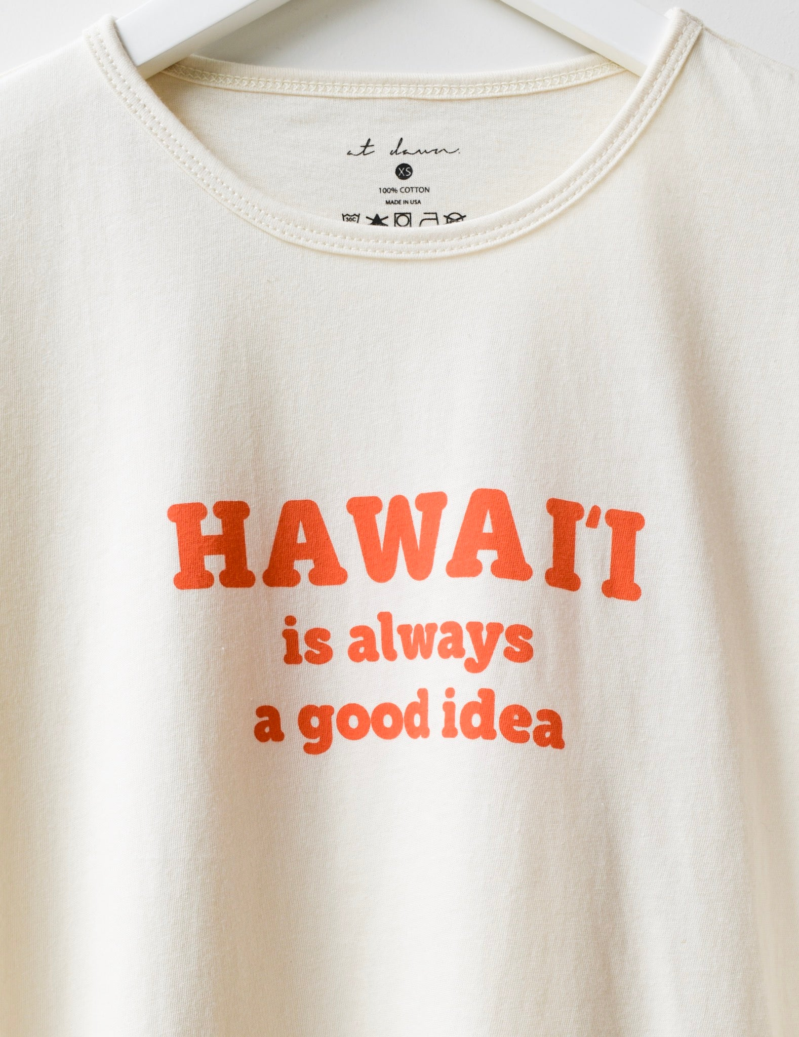 Unisex HI is a Good Idea Tee Orange