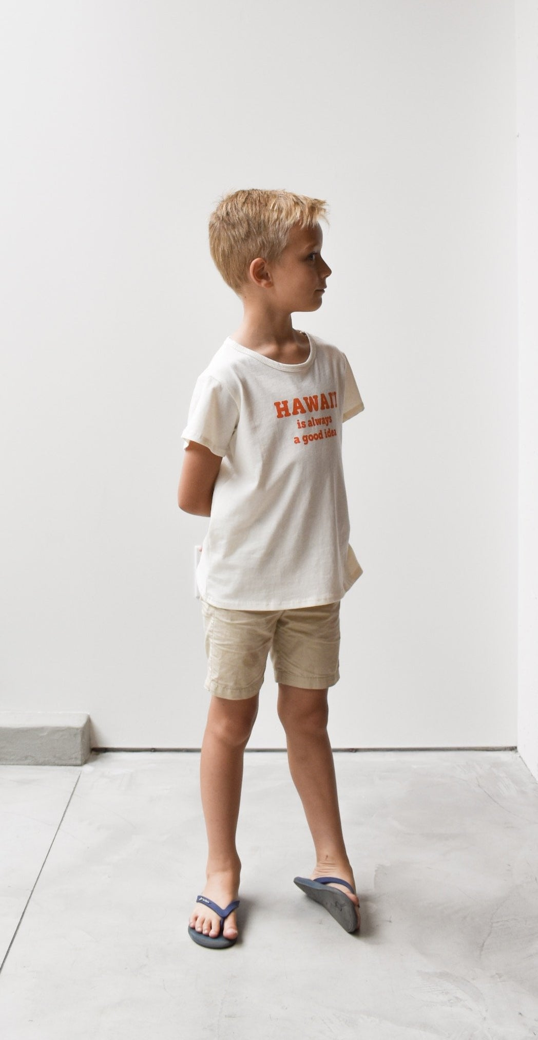 Kid's HI is a good idea Tee (Orange)