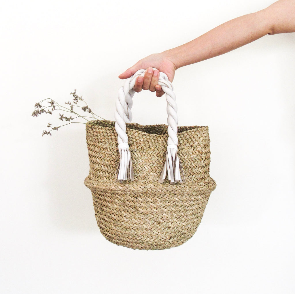 Adela Basket Bag -Small