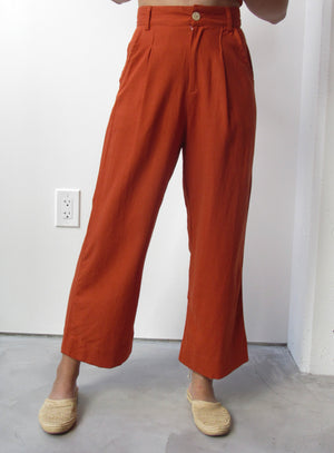 High Waisted Wide Pants