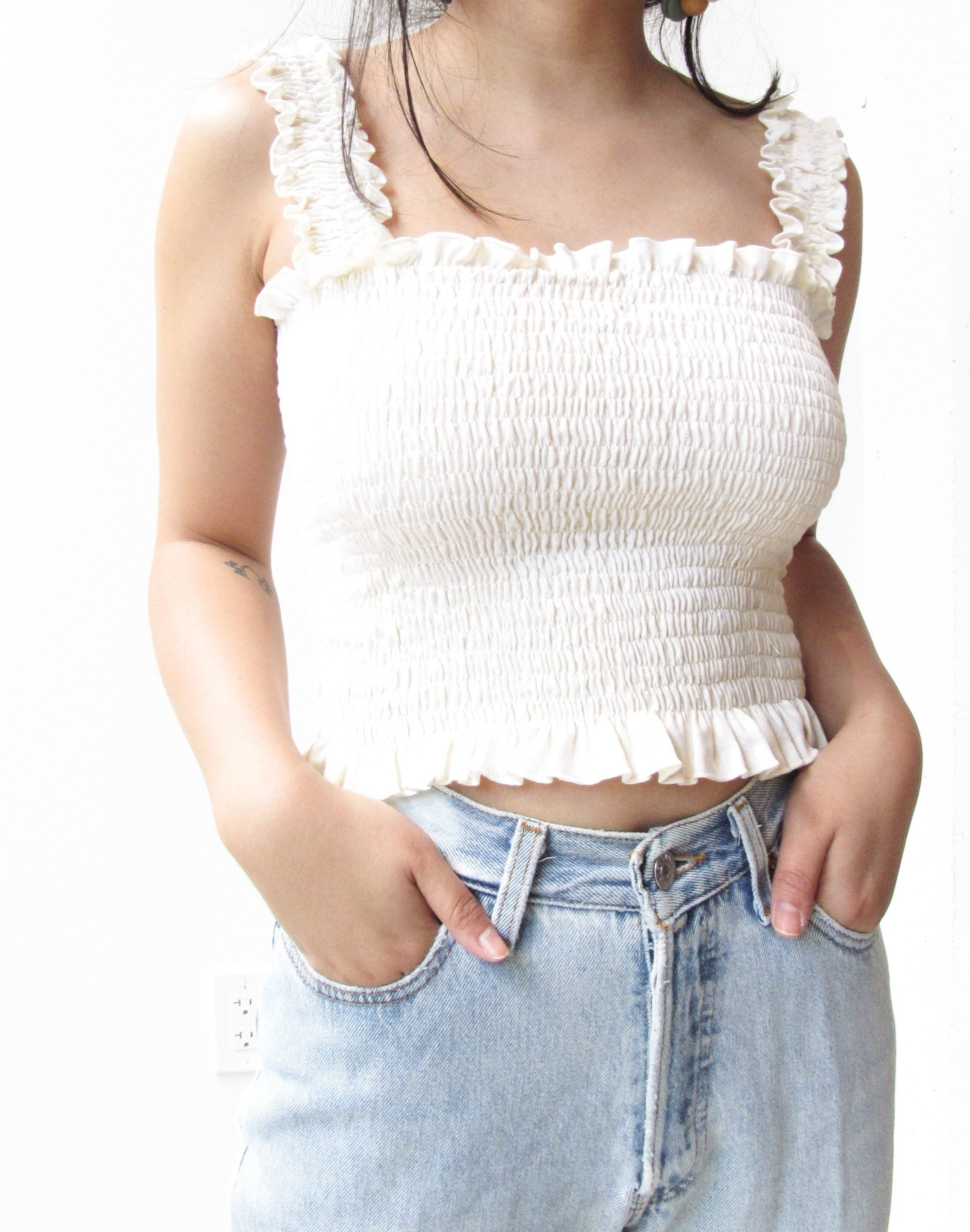 Gathered Crop Top