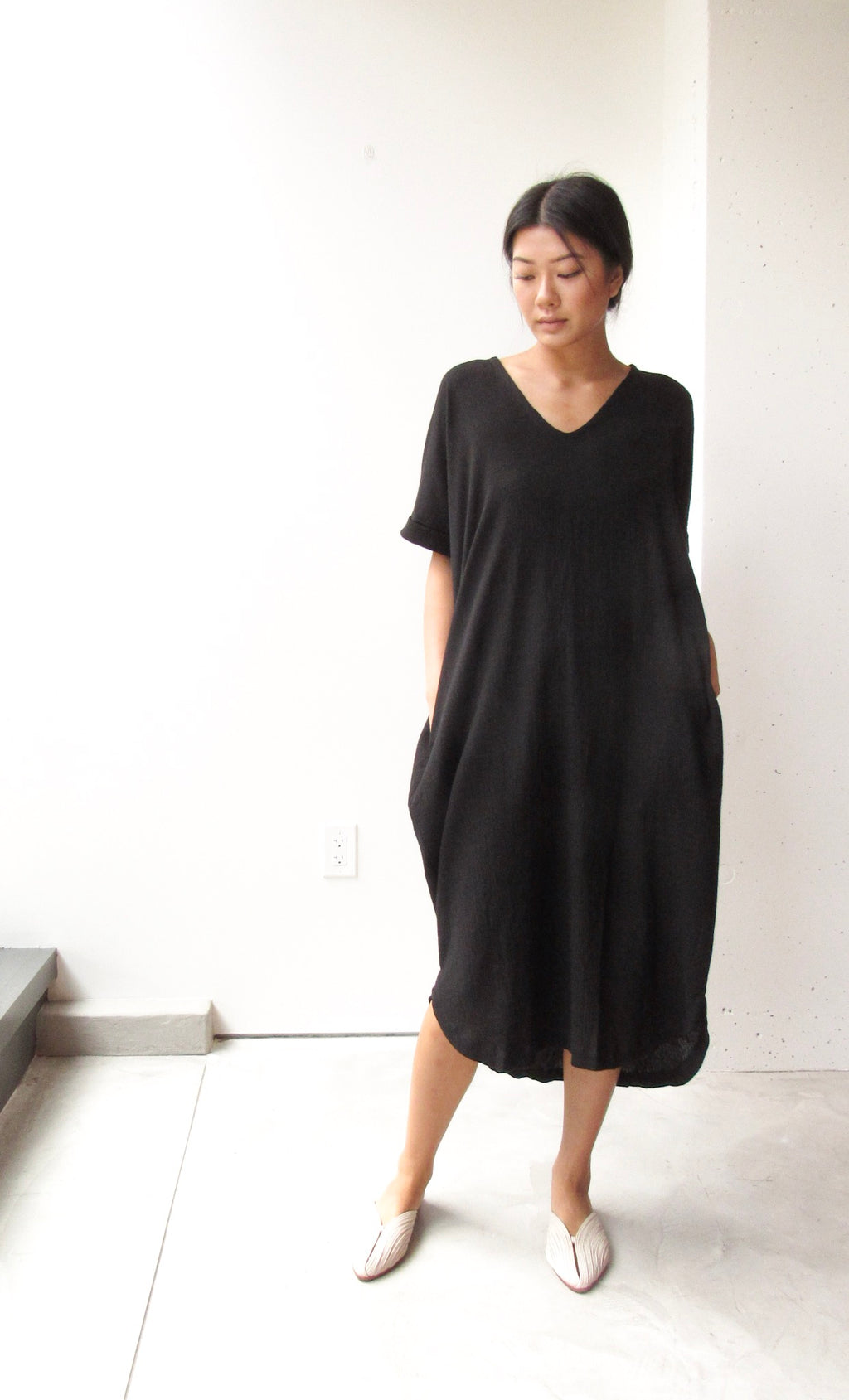 Relax Long Dress (Short Sleeve)