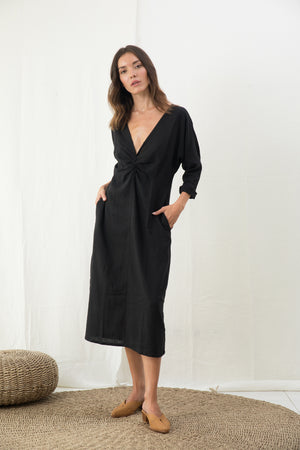 Back Twist Mid Dress