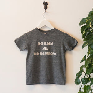 Kid's No Rain No Rainbow tee (Eco Triblend)