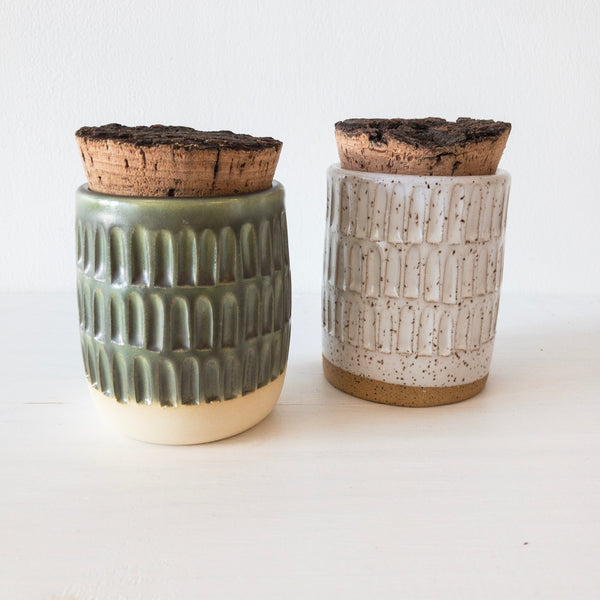 Cork Canister (Carved)