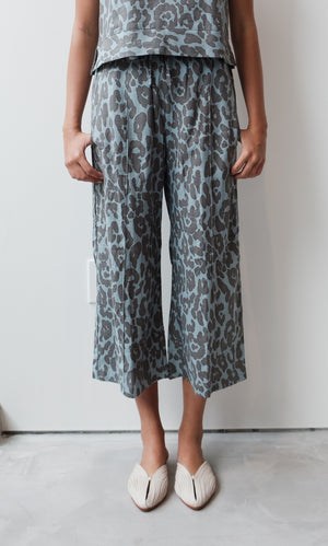 Leopard Wide Pants