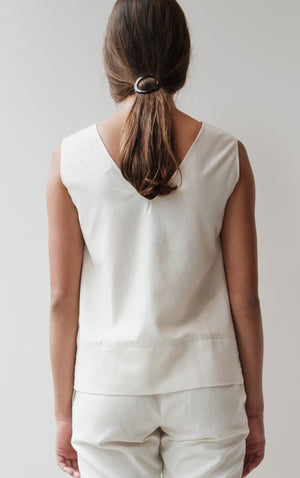 Silk Noil Sleeveless Top