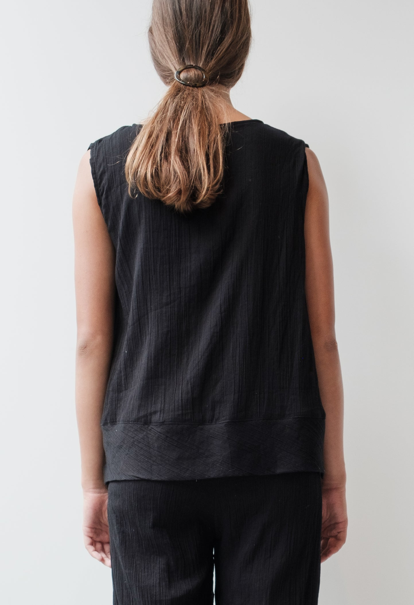 Crinkle Sleeveless Top