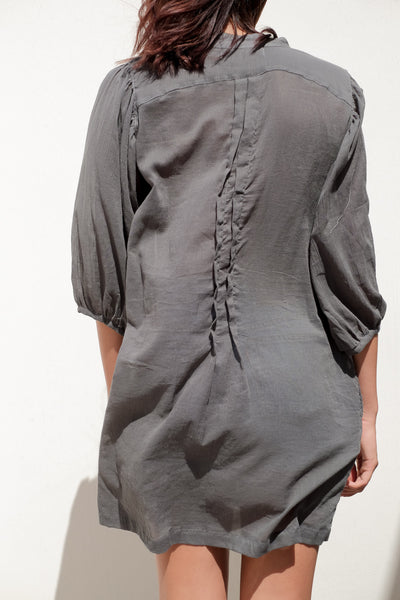 Mid Puff Sleeve Shirts Dress