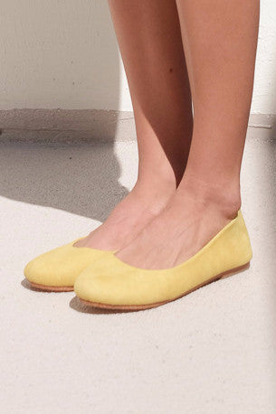 Suede Ballet Shoes [Yellow]