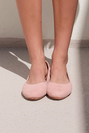 Suede Ballet Shoes [Pink]