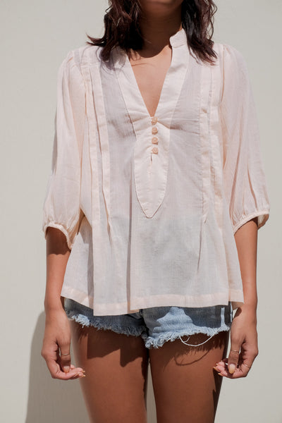 Mid Puff Sleeve Blouse
