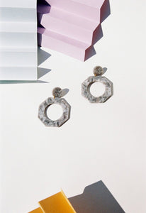 Clef Earrings - Grey