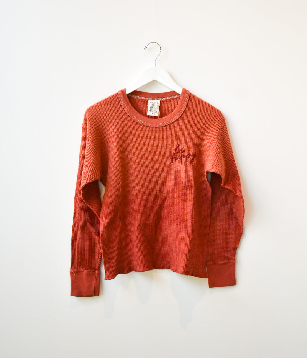 Vintage Embroidered Thermal Crewneck