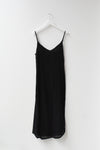 Sample Crinkle Slip Dress - Black