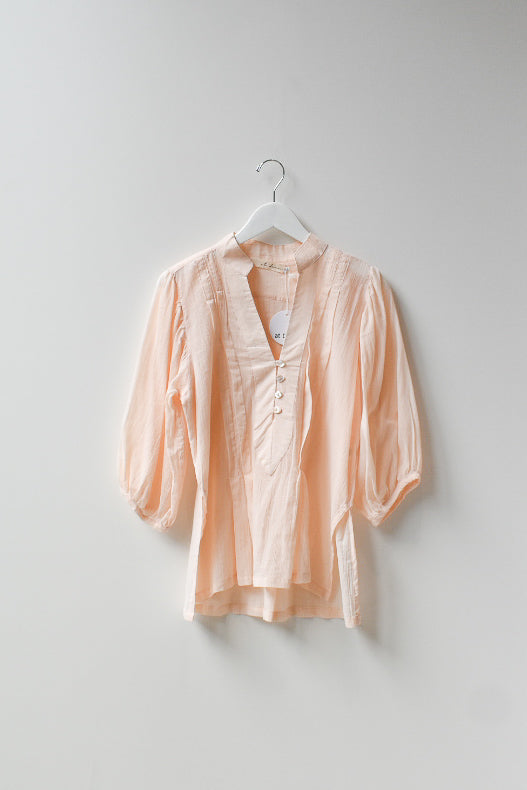 Sample Mid Puff Sleeve Blouse - Pink