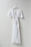 Sample Linen Maxi Dolman Wrap Dress - White