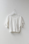 Sample Stripe Wrap Top - White