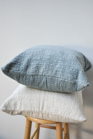 Herb Dyed Pillow Case - Dusty Blue