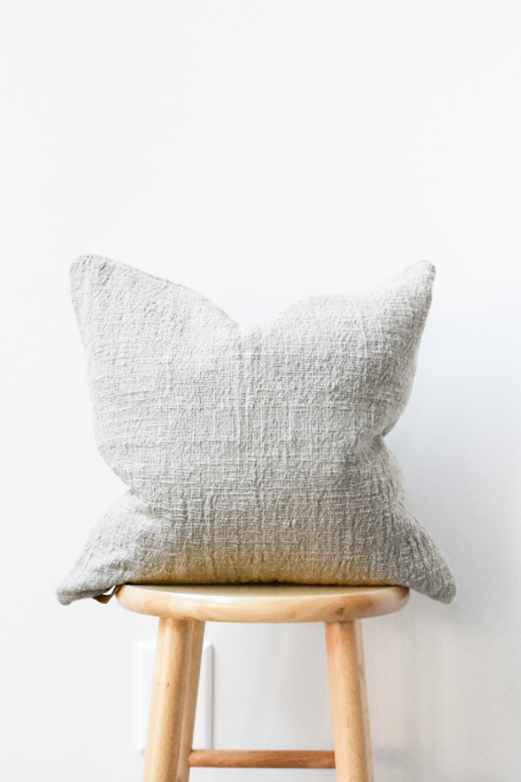 Herb Dyed Pillow Case - Light Brown