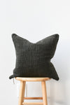 Herb Dyed Pillow Case - Black Ink