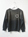 Happy Face Vintage Sweatshirt- Black/Grey Wash