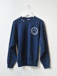 Happy Face Vintage Sweatshirt-Navy