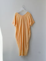 Sample Cotton Relax Long Dress - Yolk