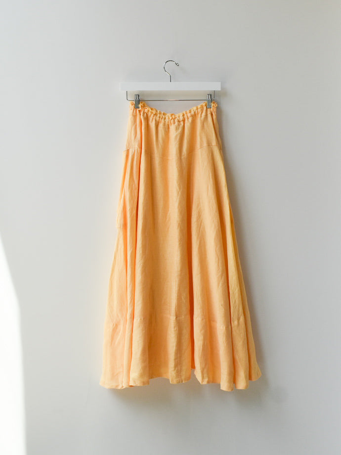 Sample Linen Long Skirt - Yolk