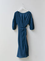 Sample Wrap Mid Dress - Navy