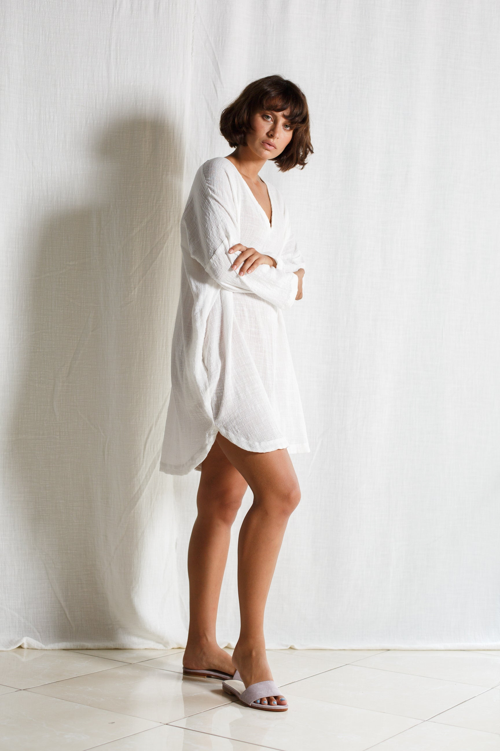 Cotton Short Dress