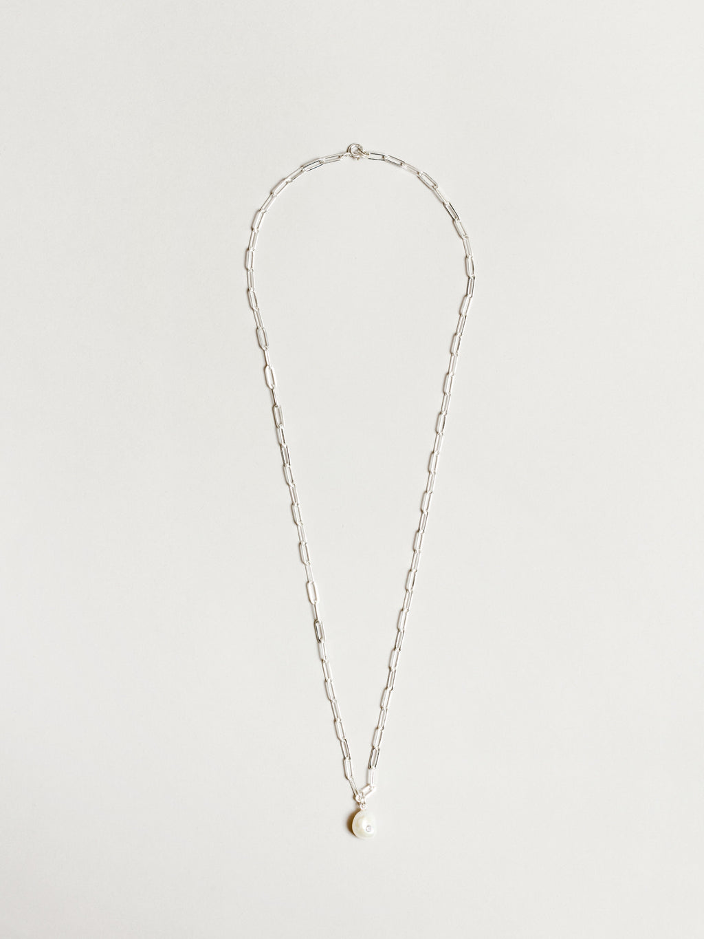 Bianca Link Necklace in Silver