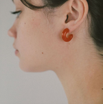 Small Glass Hoops in Tangello