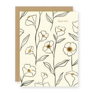 Thank You - Flowers Card