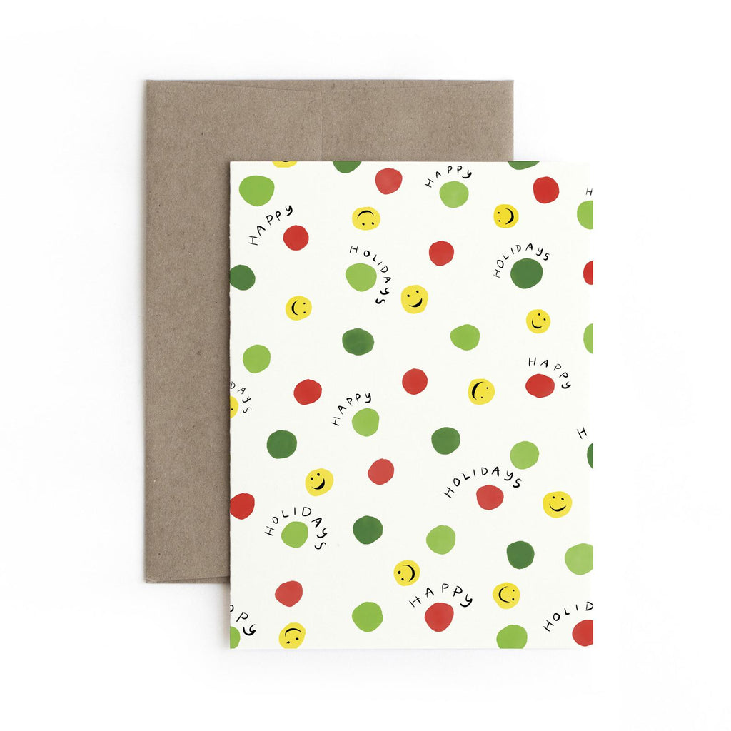 Happy Holiday Card Box Set (Set of 5)