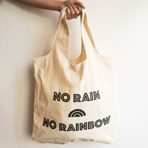 No Rain No Rainbow Shopper Bag