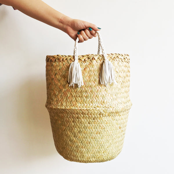 Adela Basket Bag -Medium