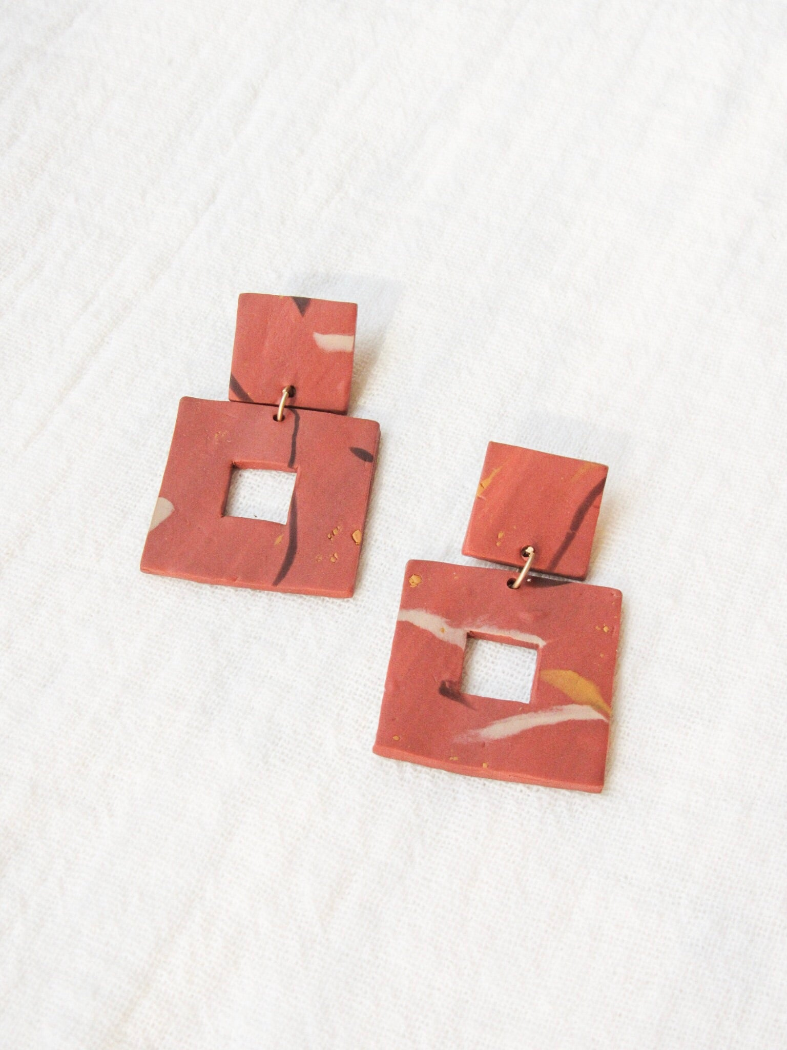 Sequoia Square Earrings by MA.GA.NDA