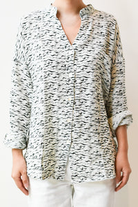 Cotton Gauze Shirt -Zebra