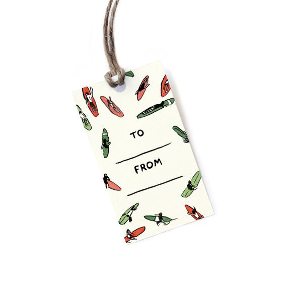 10 Surfer Holiday Gift Tags
