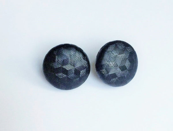 Large Black Fragmented Studs