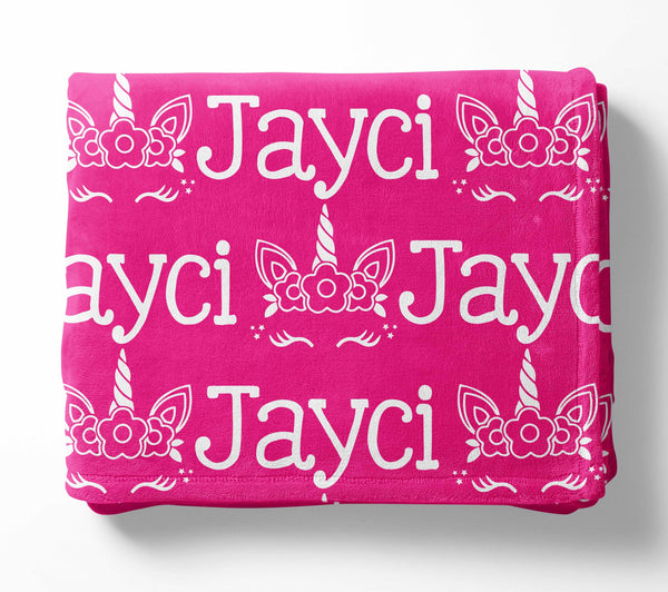 Personalized Kid Blanket - Name and Unicorn