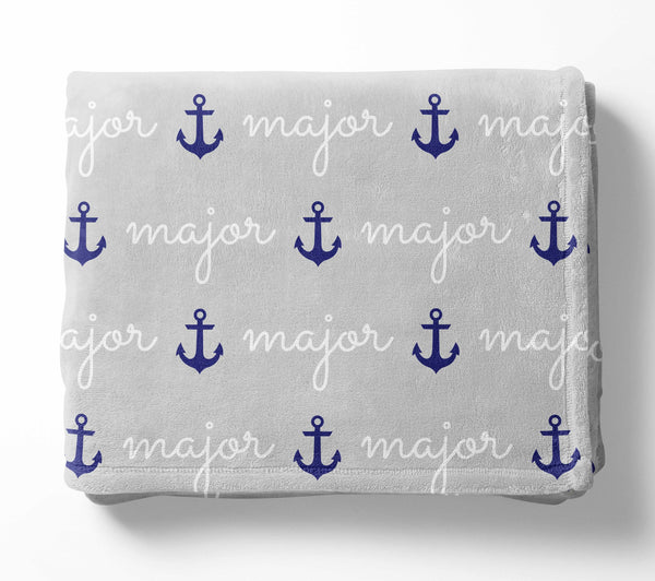 Personalized Plush Blanket - Anchors
