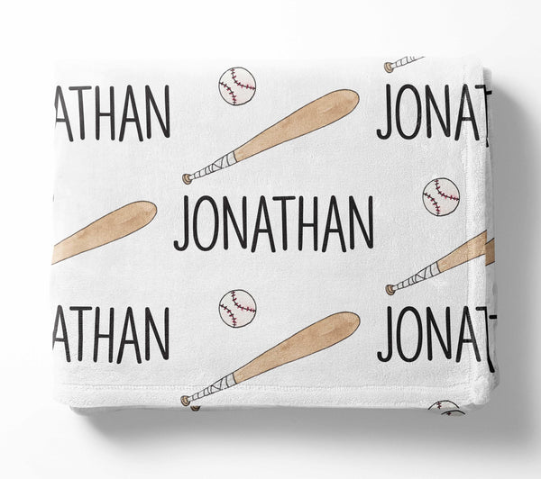 Personalized Kid Blanket - Baseball