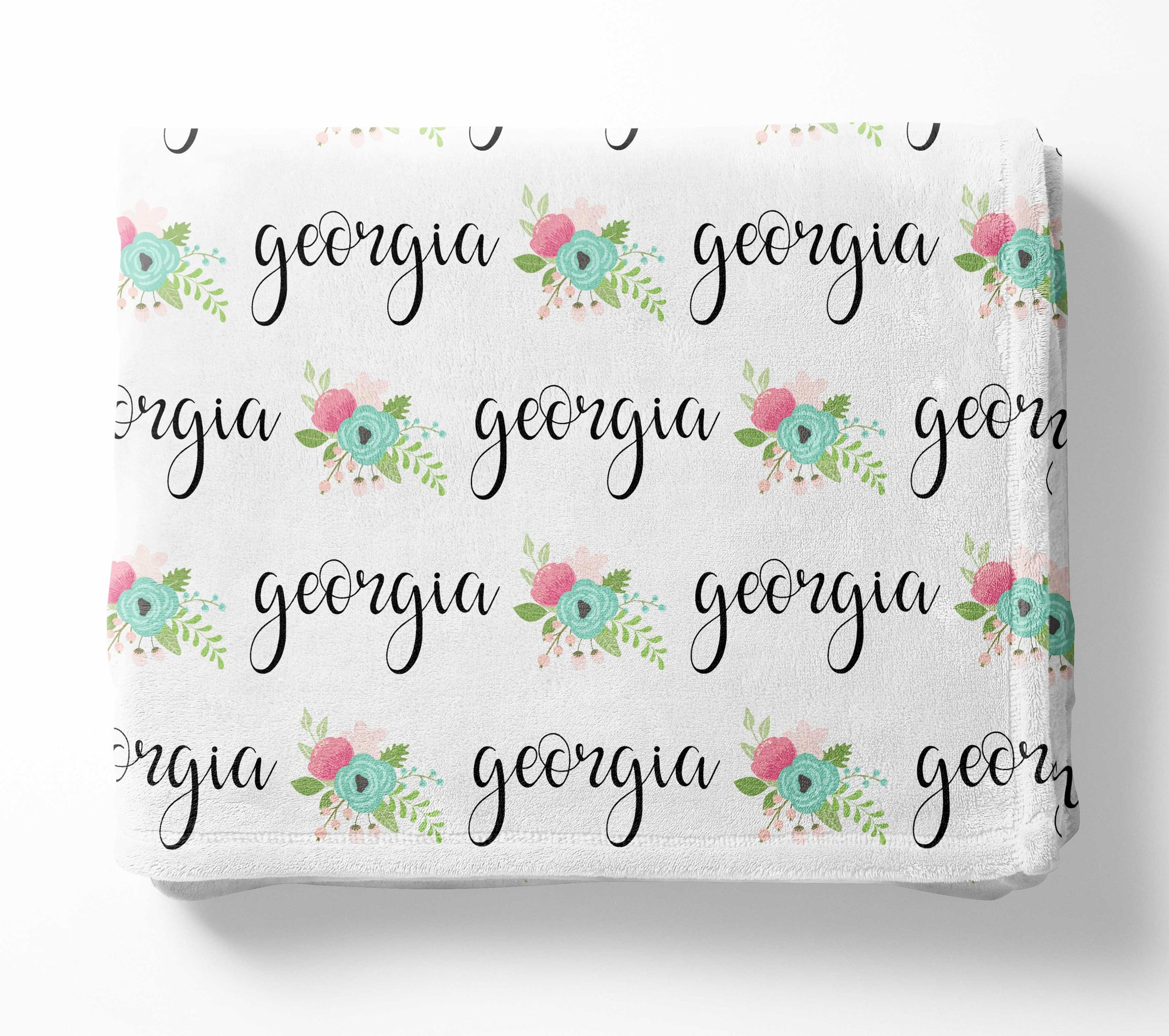 Personalized Plush Blanket - Georgia Floral