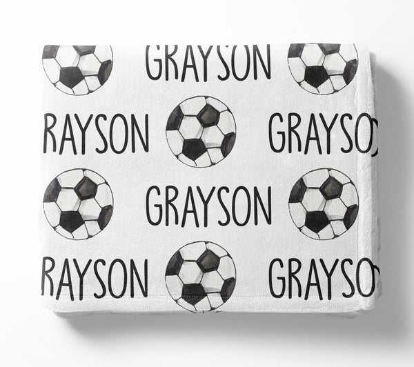 Personalized Kid Blanket - Soccer